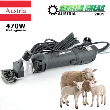 Profesionali avių vilnos kirpimo mašinėlė 470W Master Shear Austria