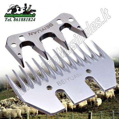 """Originalus peiliukų komplektas avių kirpimo mašinėlėms """"Beiyuan""""   Ašmenys + šukos avių kirpimo žirklėms   Atsarginiai peiliukai"""